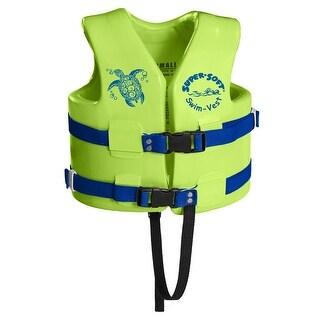 TRC Recreation Kids Super Soft USCG Vest S - Kool Lime Gn - 1021039