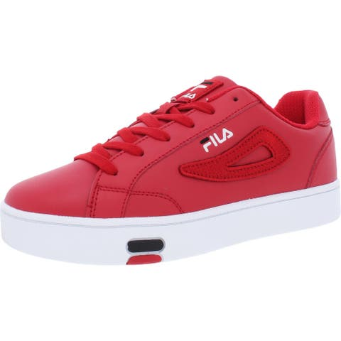Fila Womens Court Sneakers Leather Fitness