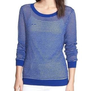 Trouve NEW Blue Women's Size Large L Novelty Stitch Crewneck Sweater