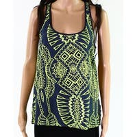 Tart Blue Green Womens Size Small S Embroidered Racernack Tank Top