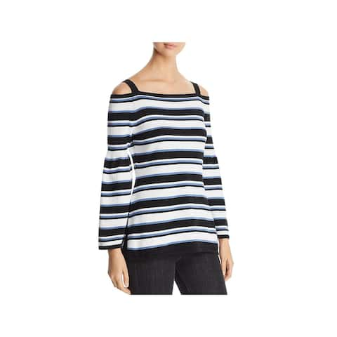 Heather B Womens Pullover Sweater Cotton Striped