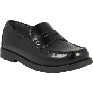Florsheim Boys' Croquet Penny Jr. Black Smooth Leather