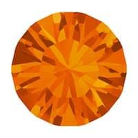 Swarovski Elements Crystal, 1028 Xilion Round Stone Chatons pp10, 50 Pieces, Tangerine F