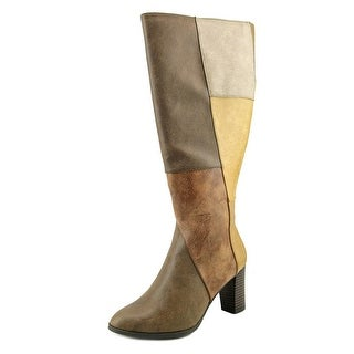 New York Transit Must Haves Wide Calf Women  Synthetic Brown Mid Calf Boot