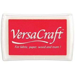 Tsukineko Full-Size VersaCraft Fabric and Home Decor Crafting Pigment Inkpad, Poppy Red