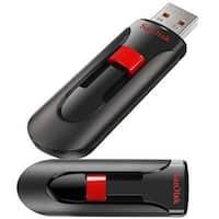 Sandisk Cruzer Glide 32Gb Usb 2.0 Flash Drive, Black/Red (Sdcz60-032G-A46)