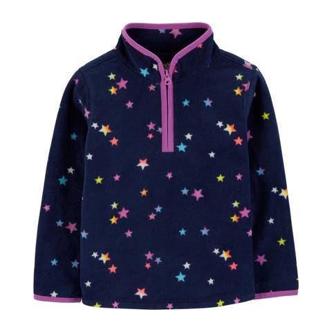 OshKosh B'gosh Baby Girls' Fleece Cozie, Navy, Star Print