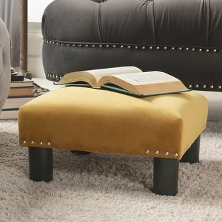 Link to The Curated Nomad Stardust Square Accent Footstool Ottoman Similar Items in Living Room Furniture