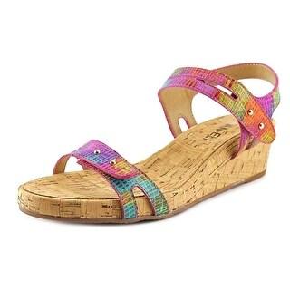 Vaneli Keana Women Open Toe Leather Sandals