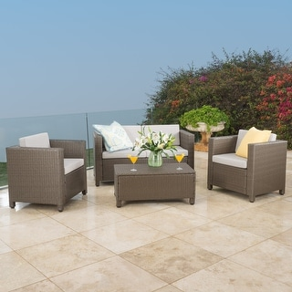 Christopher Knight Home Puerta Outdoor 4-piece Sofa Set