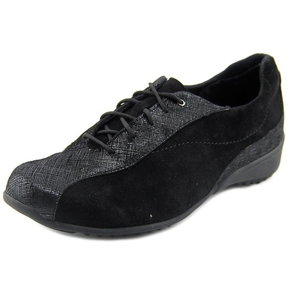 Munro American Sydney Women N/S Round Toe Suede Black Sneakers