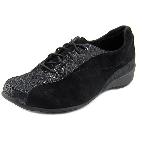 Munro American Sydney Women Round Toe Suede Black Sneakers