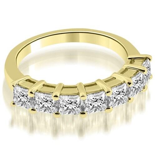 2.00 cttw. 14K Yellow Gold Prong Set Princess Cut Diamond Wedding Band
