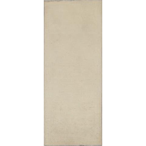 """Vegetable Dye Oushak Chobi Oriental Runner Rug Handmade Wool Carpet - 2'0"""" x 5'7"""""""