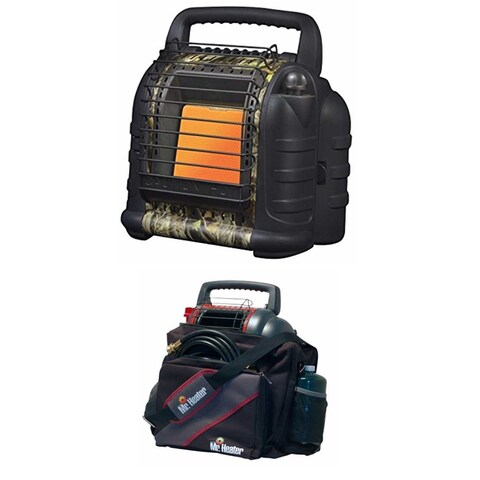 Mr. Heater Hunting Buddy Portable Heater w/ Water Resistant 9BX Buddy Carry Bag
