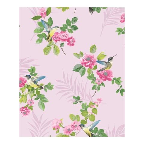 Juniper Pink Botanical Wallpaper - 20.5 x 396 x 0.025
