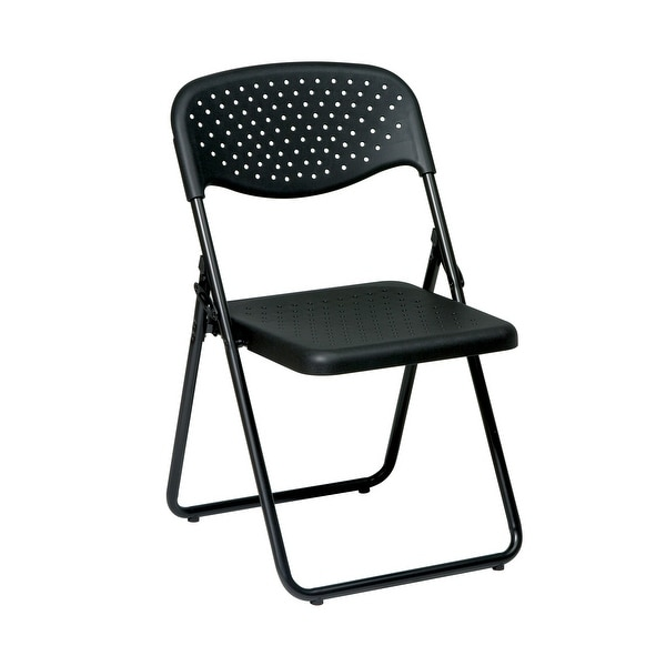 Folding Chair with Plastic Seat and Back. Opens flyout.