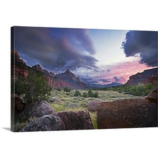 """Sunset in Zion National Park"" Canvas Wall Art"