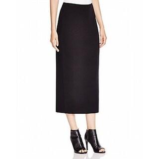 Eileen Fisher NEW Black Women's Size Small PS Petite Knit Wool Skirt