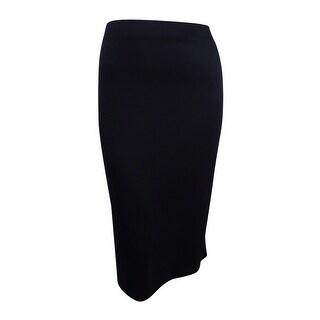 Kasper Women's Plus Size Knit Midi Skirt (2X, Black) - Black - 2X