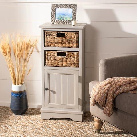 "Safavieh Connery Vintage Grey Storage Cabinet - 15.9"" x 11.8"" x 35"""