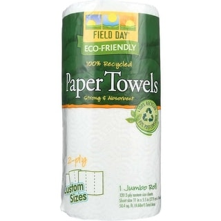 Field Day Paper Towel, 100 Percent Recycled Custom Size - (Case of 24 - 1 Roll)