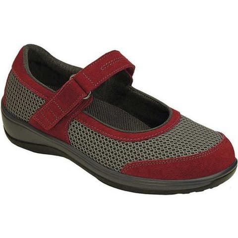 Orthofeet Women's Chattanooga Grey Mesh/Red Suede