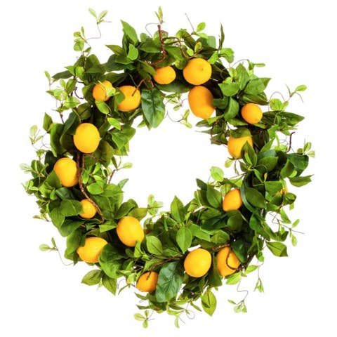 Bountiful Lemon Wreath, 24""