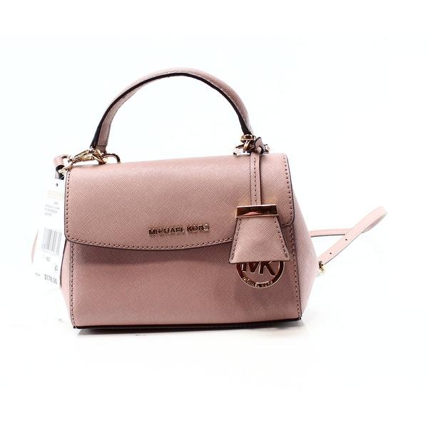 78c7b9b7def6 Shop Michael Kors NEW Pink Fawn Saffiano Ava Mini Crossbody Handbag ...