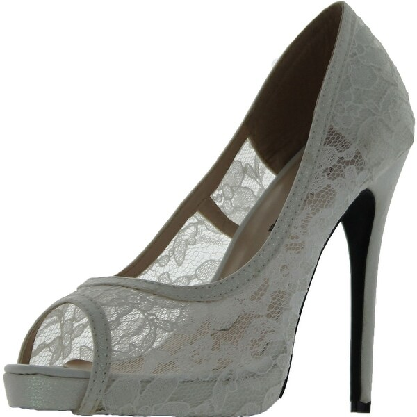 Wild Rose Women's Lorena 01 Pumps Shoes - White