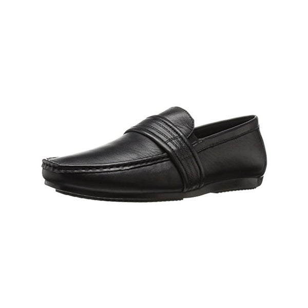 Zanzara Mens Van Eyck Loafers Leather Strap Detail