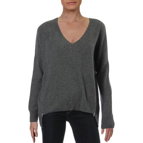 Aqua Womens Pullover Sweater Cashmere V-Neck