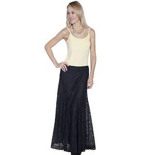 Scully Western Skirt Womens Honey Creek Full-Length Solid Black HC225 - L
