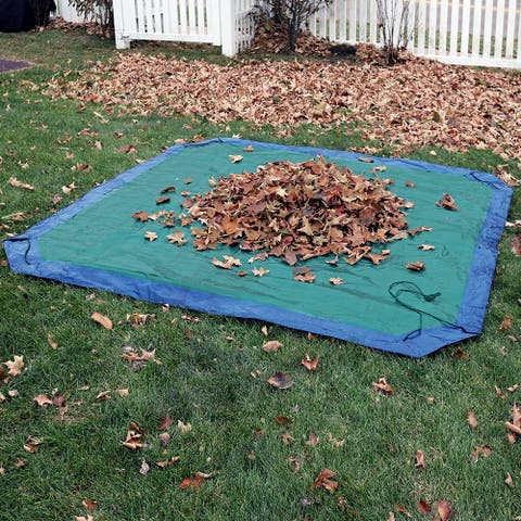 Sunnydaze 7-Foot Blue-Green Weather-Resistant Reversible Polyethylene Yard Tarp