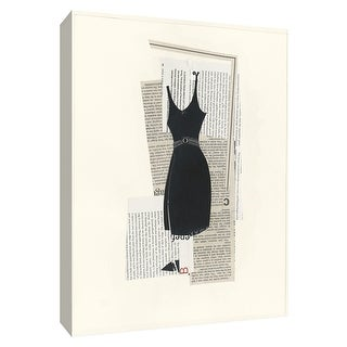 """PTM Images 9-154751  PTM Canvas Collection 10"""" x 8"""" - """"Little Black Dress II"""" Giclee Dresses Art Print on Canvas"""