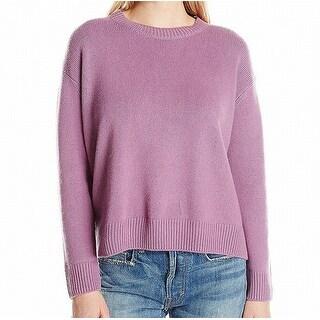 Vince NEW Purple Womens Medium M Crewneck Cashmere Ribbed Knit Sweater
