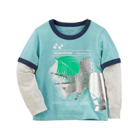 OshKosh B'gosh Baby Boys' Layered-Look Graphic Tee, 12-18 Months