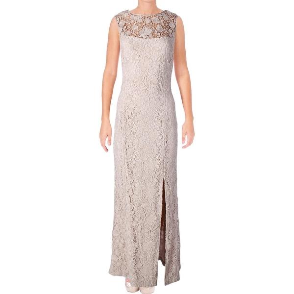 Lauren Ralph Lauren Womens Formal Dress Full-Length High-Neck