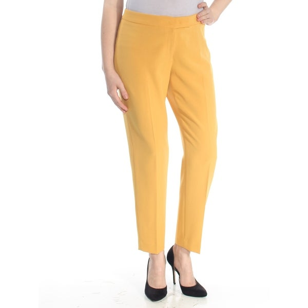 quality design top-rated newest get online ANNE KLEIN Womens Yellow Straight leg Wear To Work Pants Plus Size: 14W