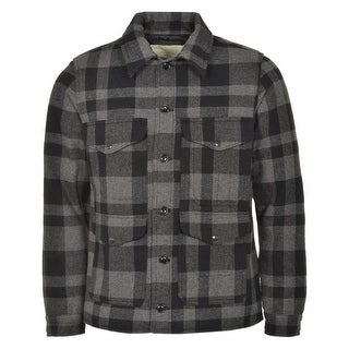 Denim and Supply by Ralph Lauren Wool Blend Jacket Dark Grey and Black Plaid