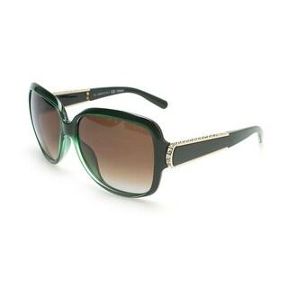 Chloe Women's Circular Oversized Sunglasses Green - Small