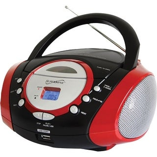 Supersonic - Sc-508Red - Portable Mp3 Cd Player Red