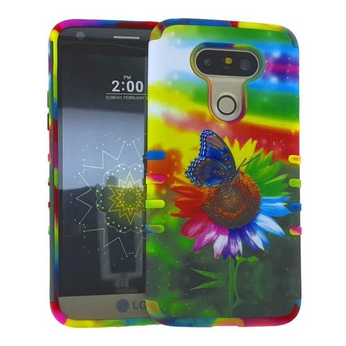 Rocker Series Slim Protector Case for LG G5 (Flower Design)