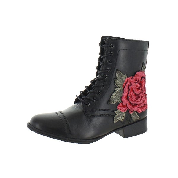 106342b9c77 Steve Madden Womens Truthful Combat Boots Ankle Lace Up - 6 Medium (B