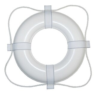 Taylor Made 30 White W White Rope Foam Ring Buoy 380