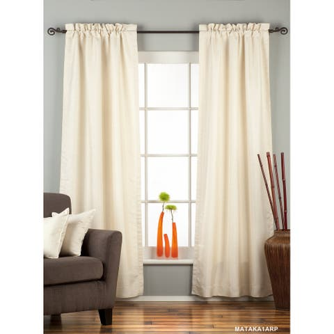 Cream Rod Pocket Matka Raw Silk Curtain / Drape / Panel - Piece