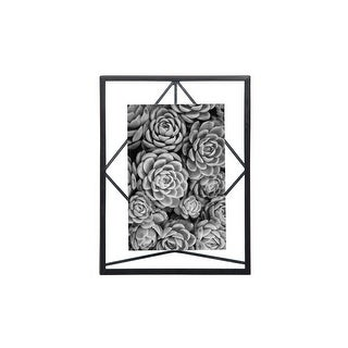 Foreside Home & Garden 4 x 6 inch Geometric Black Wire Decorative Metal Picture Frame