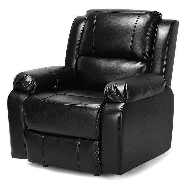 Shop Manual Recliner Chair Lounge Sofa PU Leather Padded