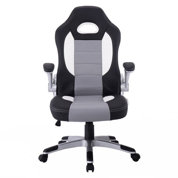 Great Costway PU Leather Executive Racing Style Bucket Seat Chair Sporty Office  Desk Chair   Free Shipping Today   Overstock.com   22700735
