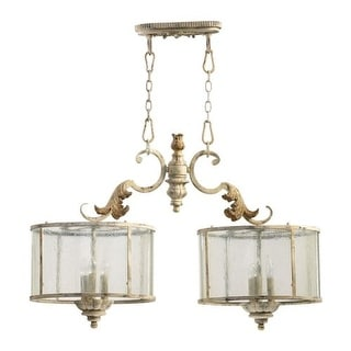 Quorum International 6537-6 6 Light Down Lighting Island / Billiards Fixture from the Florence Collection